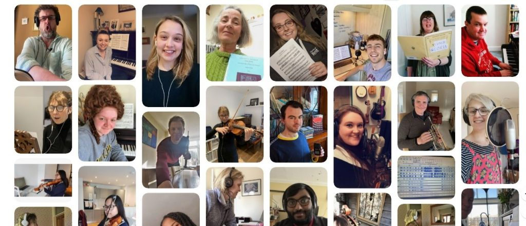 Collage of selfie from Virtual Music Project