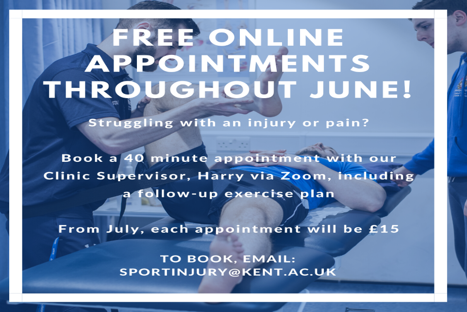 FREE Online appointments Throughout June from Sports Ready Clinic