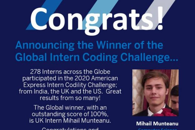 BSc Computer Science student Mihail Munteanu wins intern coding challenge