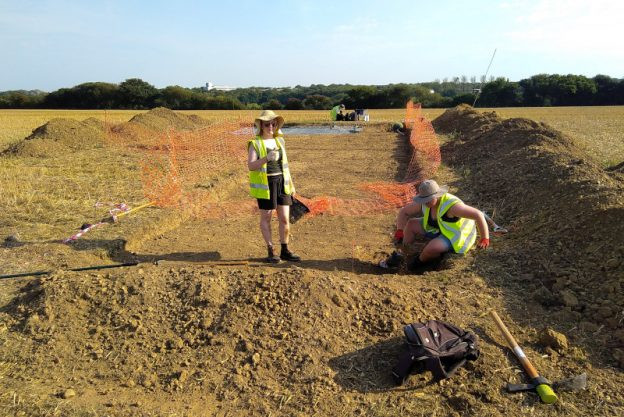 Two students on a dig