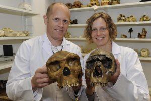 Professor Matthew Skinner (with Professor Tracy Kivell)