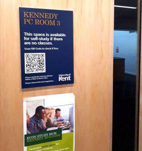 QR code on teaching room door