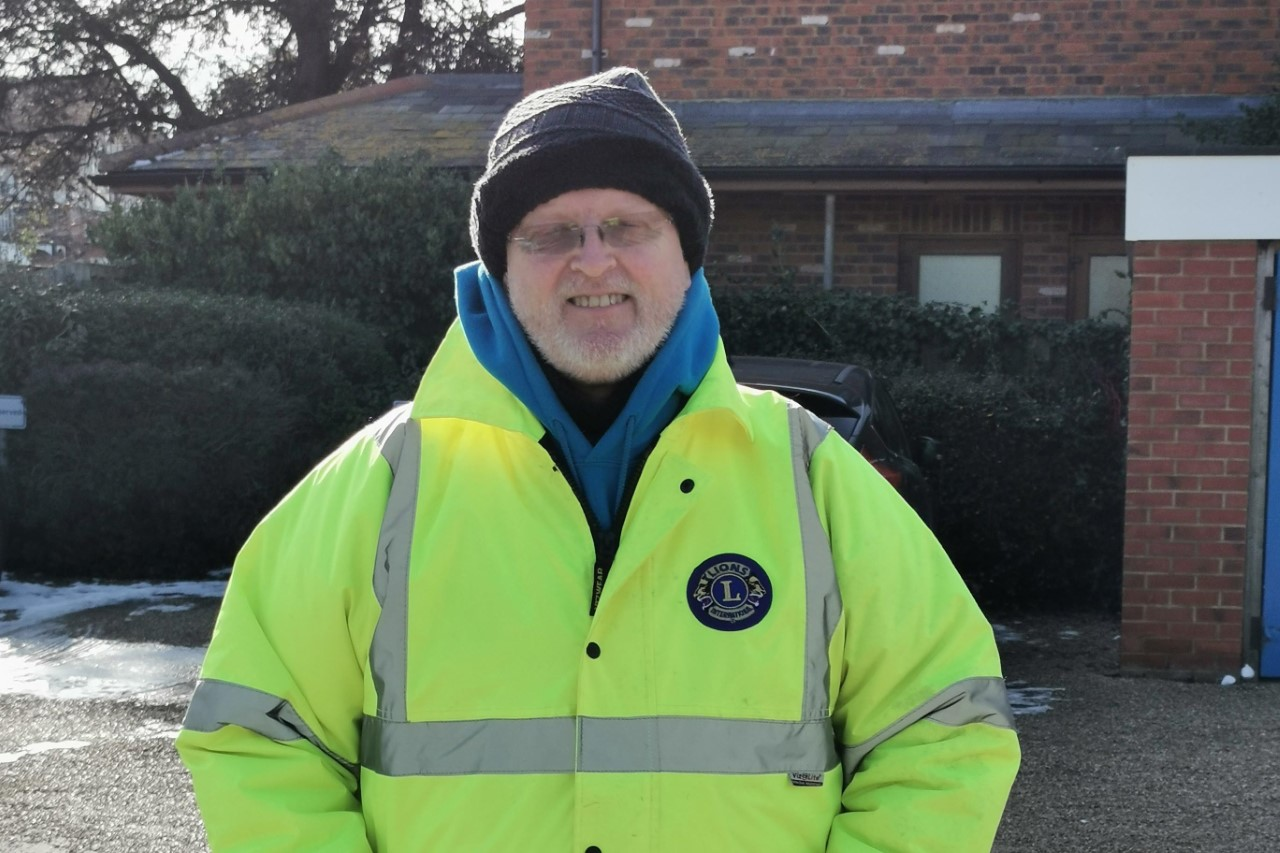 Phil Robinson volunteering