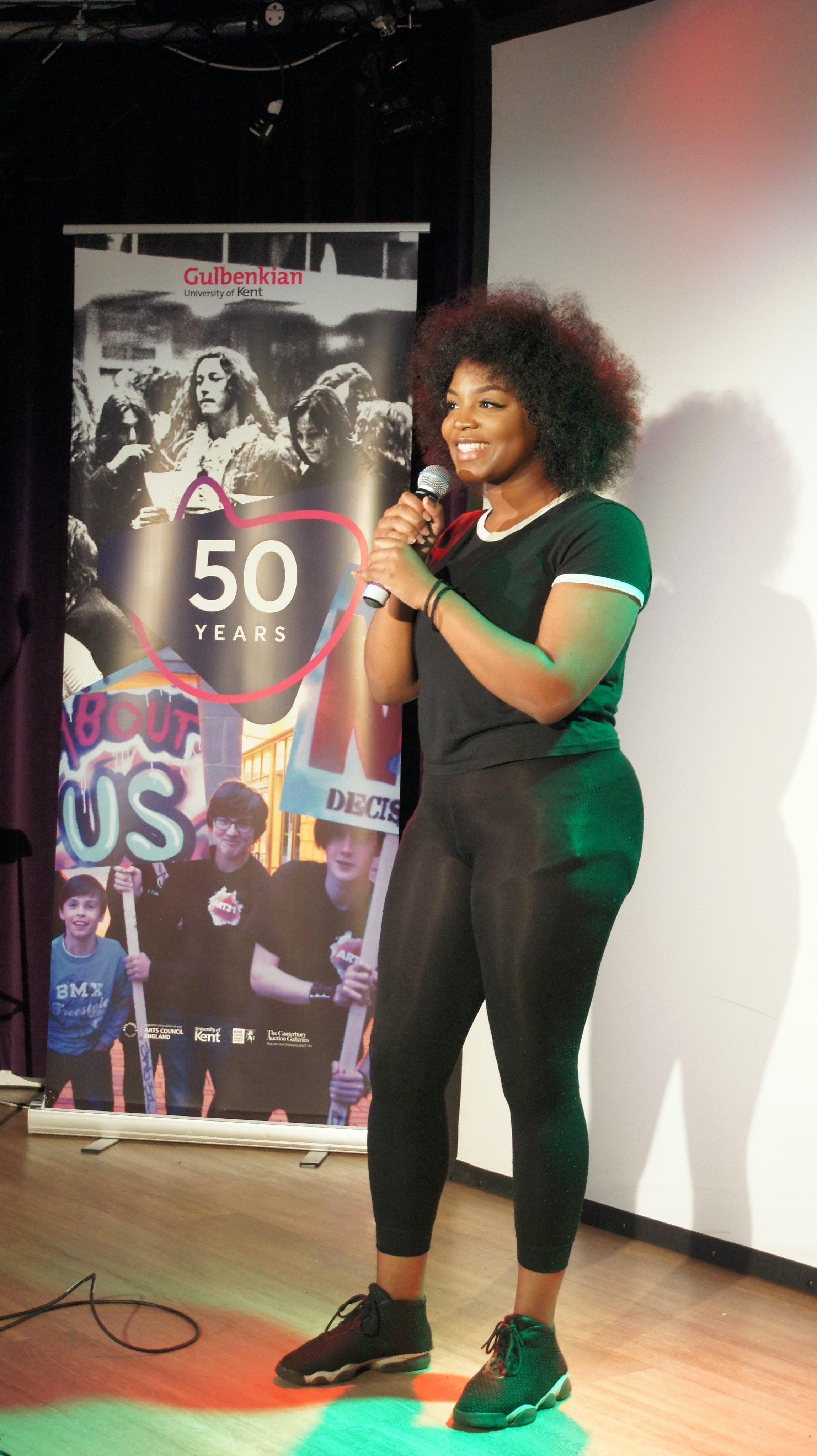 Drama grad Taylor Sonko - Garvey performs at Gulbenkian 50th anniversary celebrations