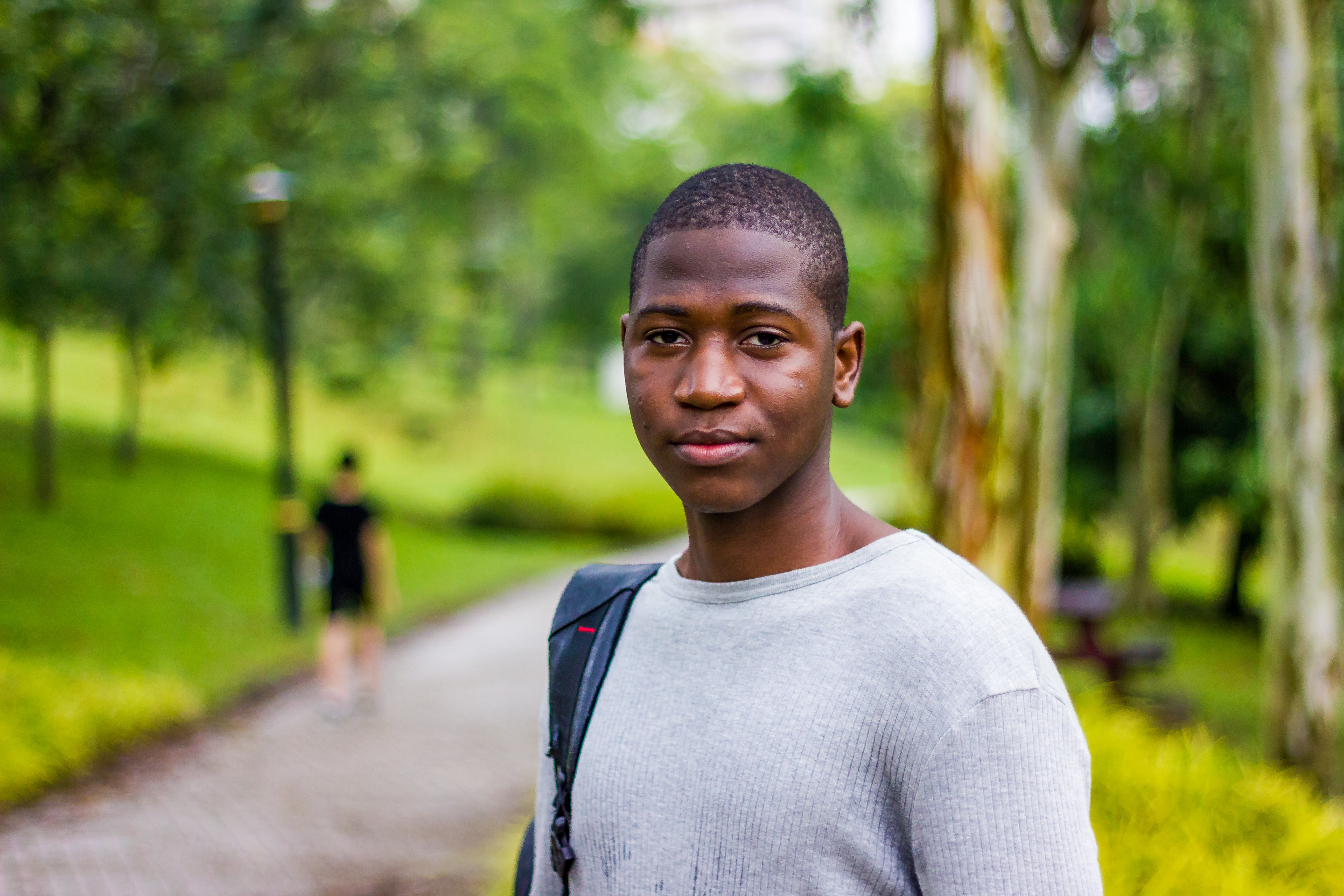 Black male student looking at camera