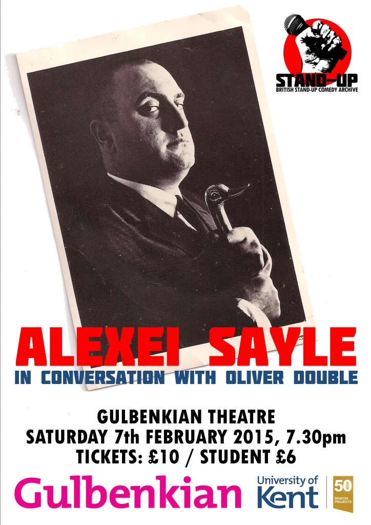 Alexei Sayle 'in conversation' poster