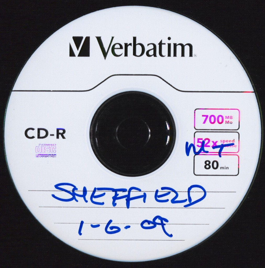 CD from the Mark Thomas Collection of a recording from the Sheffield leg of his 2009 'It's the Stupid Economy' tour