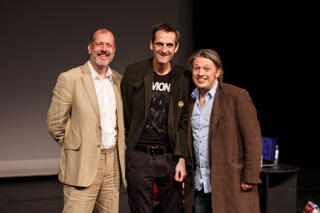 Nick Hiley (Head of Special Collections), Olly Double (Head of Drama) and Richard Herring