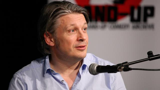 Richard Herring in the Gulbenkian Theatre in conversation with Olly Double