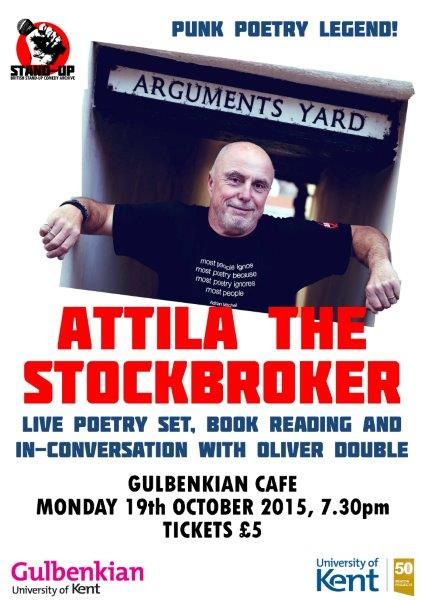 'Attila the Stockbroker in conversation with Olly Double' poster