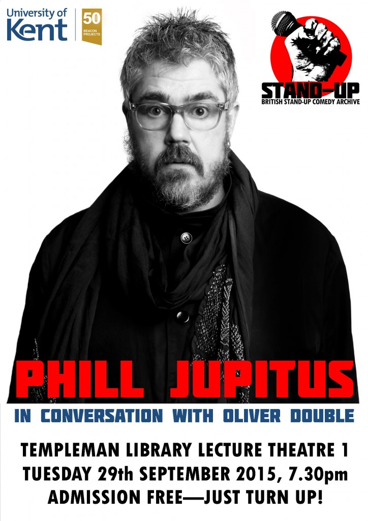 'Phill Jupitus in conversation with Olly Double' poster