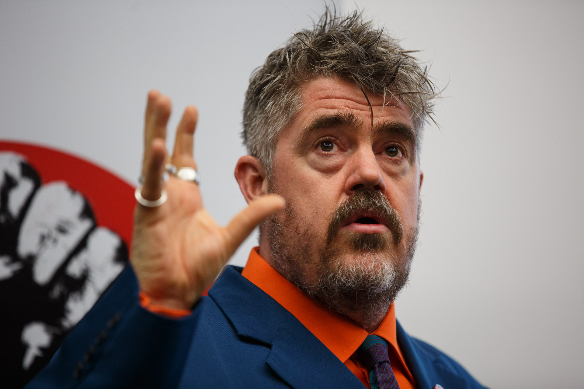 Phill Jupitus at the University of Kent, 29 September 2015. Photo Matt Wilson