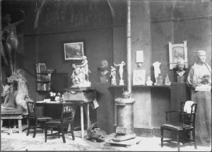 Alfred Drury's studio c. 1899