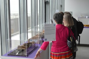 Visitors viewing Templeman model