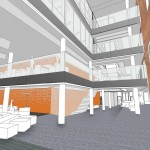 The new extension atrium