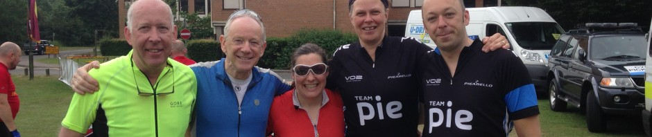 Five University of Kent cyclists on the Kent sportive