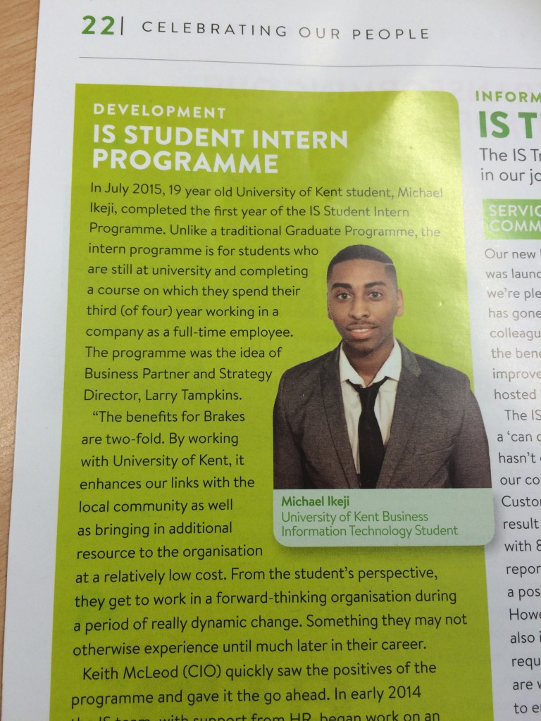 Michael Ikeji article in Brakes magazine