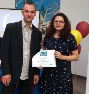 Farhana Lisa and Marek - prize winner