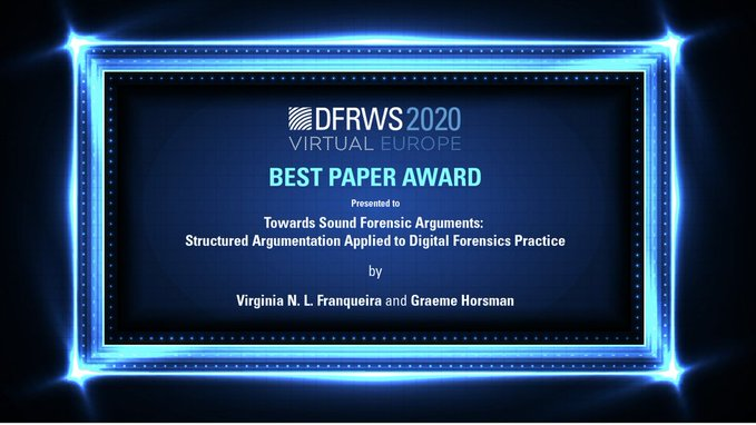 Certificate of DFRWS best paper award