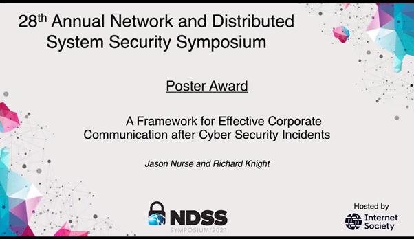 Jason Nurse NDSS award