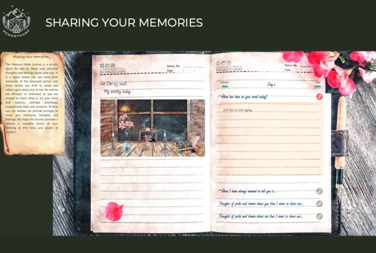 Screenshot from Living Memory app