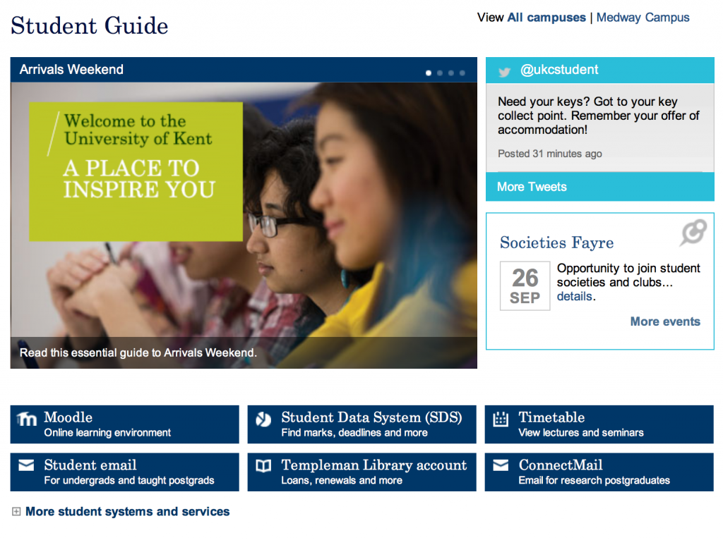 University of Kent student guide