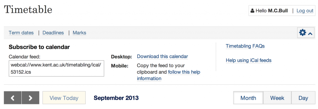 presenting iCal download links