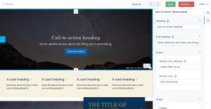 site editor with block editor