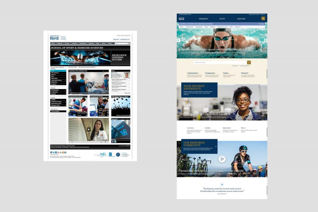 School site screenshot
